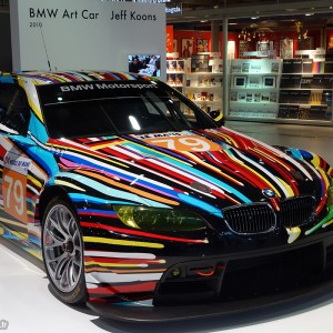 BMW Art Car Jeff Koons 2010 Centre Pompidou Paris