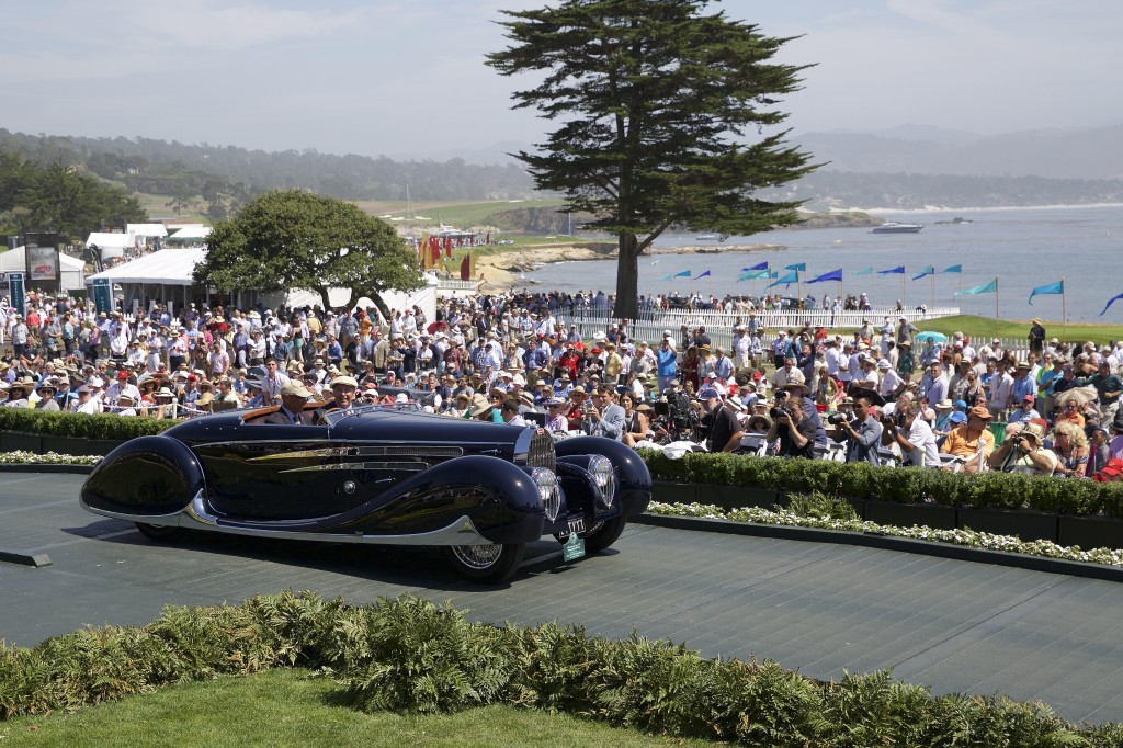 Second in Class J-2 European Classic Late and Special Award-French Cup : Bugatti Type 57C Vanvooren Cabriolet 1939 (Margie & Robert E. Petersen Collection, Los Angeles, California)