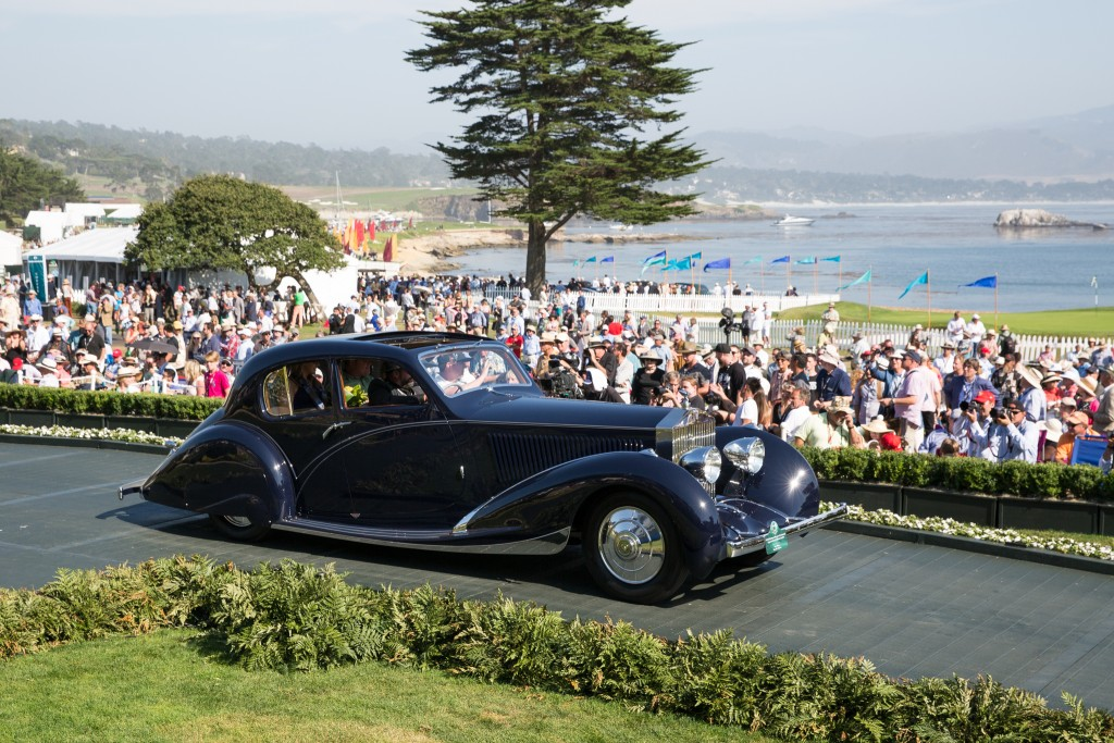 J.B.&Dorothy Nethercutt Most Elegant Closed 2015 : Rolls-Royce Phantom II Continental Figoni & Falaschi Pillarless Berline 1932