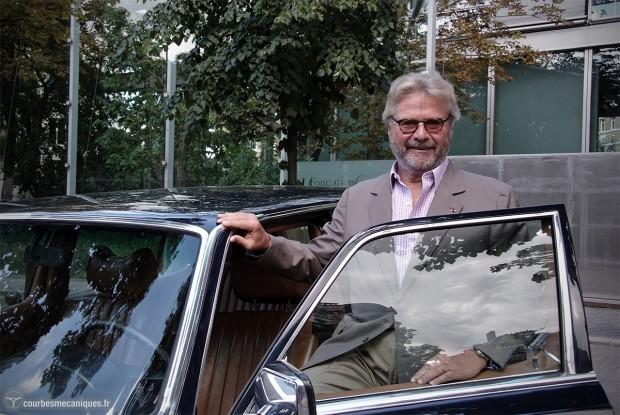 Alain Dominique Perrin et la Mercedes-Benz 450 SEL de Claude François